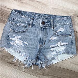 AE Denim Cut Off  Bootie Shorts